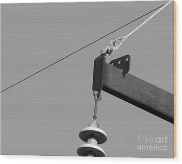 Wood Print featuring the photograph High Power Line - 7 by Kenny Glotfelty