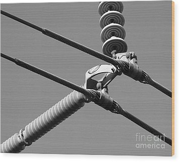 Wood Print featuring the photograph High Power Lines - 1 by Kenny Glotfelty