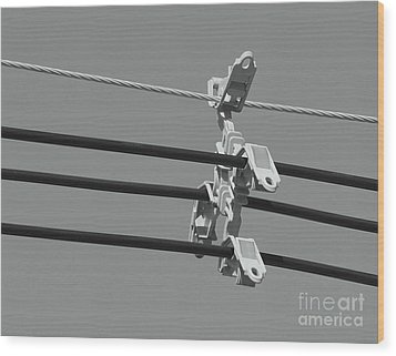 Wood Print featuring the photograph High Power Lines - 9 by Kenny Glotfelty