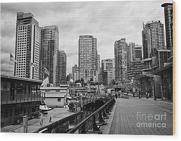 high rise apartment condo blocks in the west end coal harbour marina Vancouver BC Canada Wood Print by Joe Fox