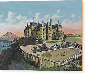 High School Football Stadium In Tacoma Wa 1911 Wood Print by Dwight Goss