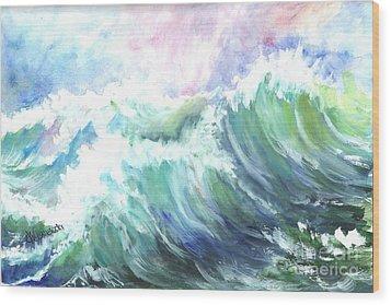 High Seas Wood Print by Carol Wisniewski