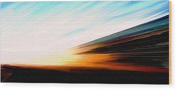 High Speed 6 Wood Print by Rabi Khan