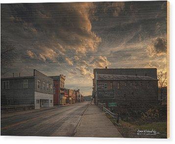 High Street - Glouster Wood Print
