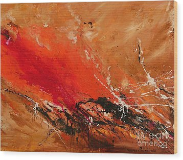 High Time - Abstract Art Wood Print by Ismeta Gruenwald