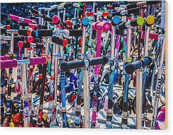 High Time To Buy A Scooter 3 Horizontal Wood Print by Alexander Senin
