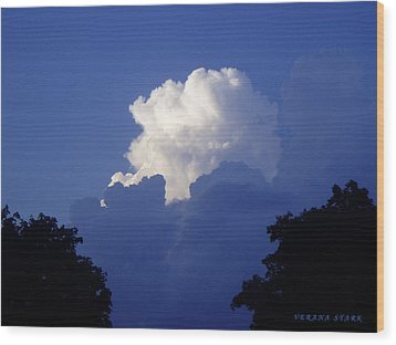 High Towering Clouds Wood Print