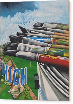 High Up Above It All Wood Print by Randy Segura