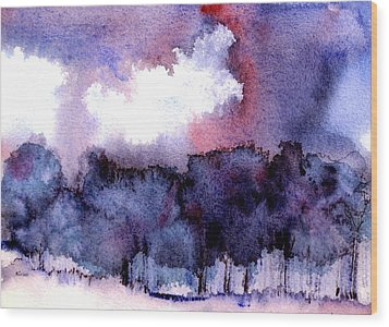 Wood Print featuring the painting High Valley Weather by Anne Duke