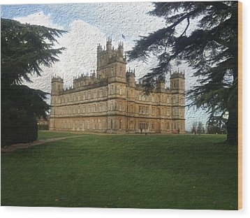Highclere Castle Downton Abbey 2 Wood Print