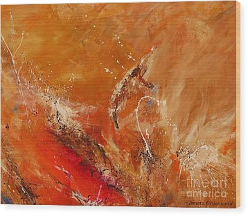 Highest Time 2 - Abstract Art Wood Print by Ismeta Gruenwald