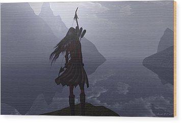 Highland Lass Wood Print