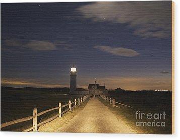 Highland Light North Truro Wood Print