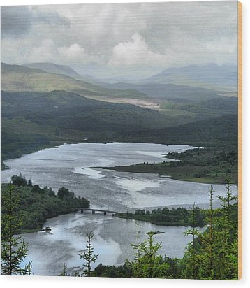Highland Loch At Lochaber Wood Print