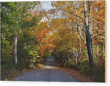 Wood Print featuring the photograph Highland Road by Chuck De La Rosa