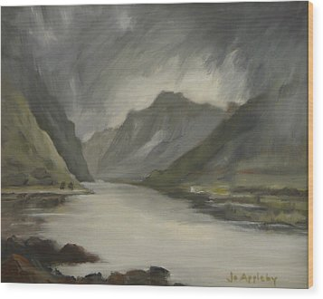 Highland Storm Wood Print