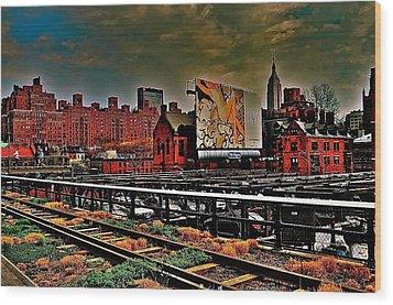 Highline Nyc Wood Print by Joe  Burns