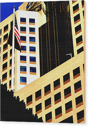 Wood Print featuring the photograph Highmark by Mary Beth Landis