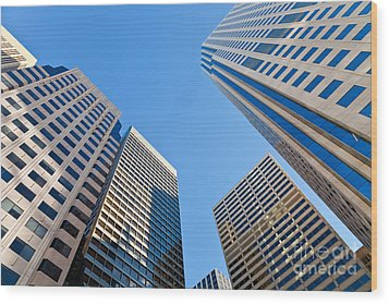 Highrises Wood Print by Jonathan Nguyen