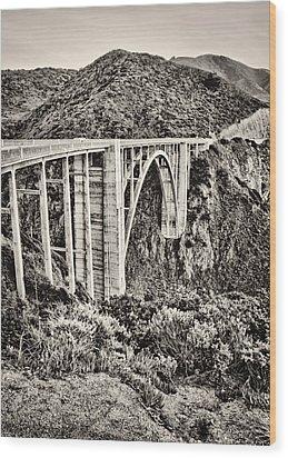 Highway 1 Wood Print by Heather Applegate