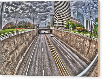 Wood Print featuring the photograph Highway Into St. Louis by Deborah Klubertanz