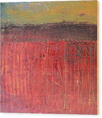 Highway Series - Cranberry Bog Wood Print by Michelle Calkins