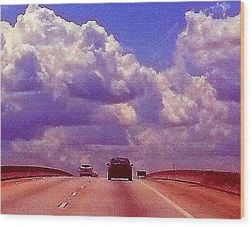 Highway To Heaven Too Wood Print by Joetta Beauford