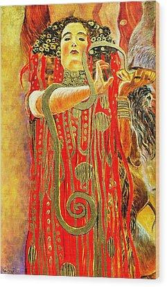 Higieja-according To Gustaw Klimt Wood Print