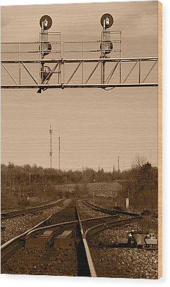Hikin' The Tracks Wood Print by Paul Wash