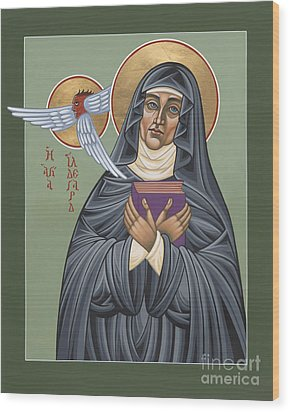 Wood Print featuring the painting St. Hildegard Of Bingen 171 by William Hart McNichols