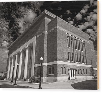 Wood Print featuring the photograph Hill Auditorium by James Howe