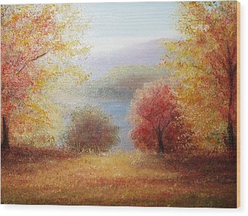 Hill Country Autumn Wood Print by Patti Gordon