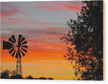 Hill Country Colors Wood Print
