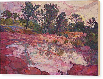 Hill Country Dawn Wood Print by Erin Hanson