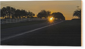 Hill Country Sunrise 2 Wood Print by Debbie Karnes