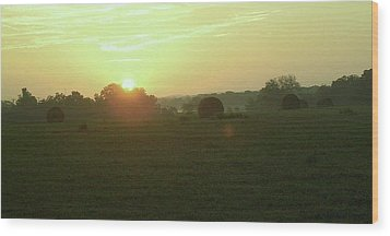 Wood Print featuring the photograph Hill Country Sunrise by John Glass