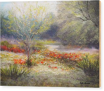 Hill Country Wildflowers Wood Print by Patti Gordon