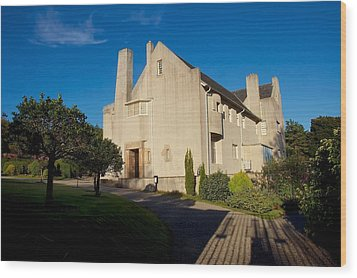 Wood Print featuring the photograph Hill House By Charles Rennie Mackintosh by Stephen Taylor