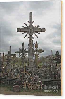Hill Of Crosses 06. Lithuania.  Wood Print