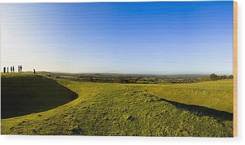 Hill Of Tara - Landscape Panorama Wood Print by Mark E Tisdale