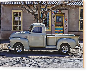 Wood Print featuring the painting Hillsboro New Mexico 1949 Gmc 100 by Barbara Chichester