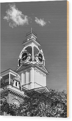 Hillsdale College Central Hall Cupola Wood Print by University Icons