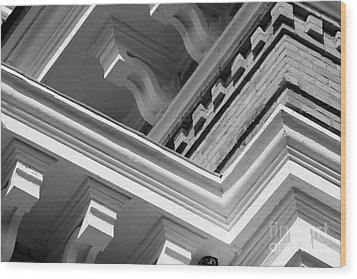 Hillsdale College Central Hall Detail Wood Print by University Icons