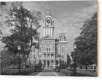 Hillsdale College Central Hall Wood Print by University Icons