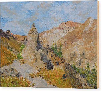 Hillside Church In Cappadocia Wood Print