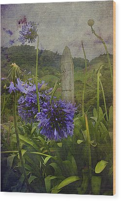 Wood Print featuring the photograph Hillside Flowers by Kandy Hurley