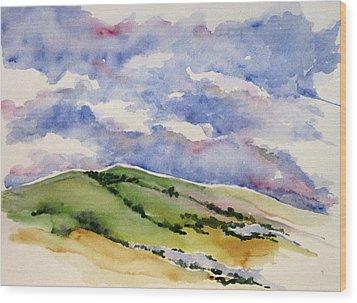 Hillside In Bloom Wood Print by Renee Goularte