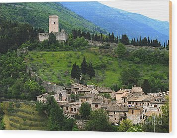 Wood Print featuring the photograph Hillsides Of Assisi Italy by Theresa Ramos-DuVon