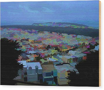 Hilltop View Wood Print by Bobbi Mercouri