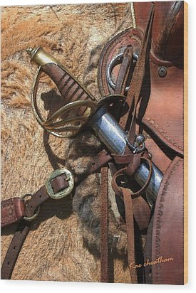 Hilt And Handle Wood Print by Kae Cheatham